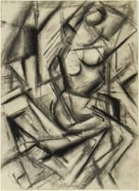 Lee Krasner (1908-1984) Charcoal Drawing