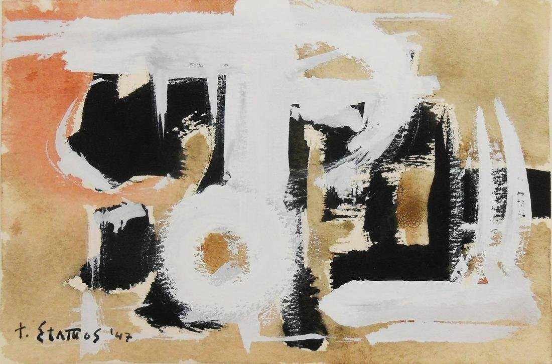 Theodoros Stamos (1922-1997) Abstract Gouache