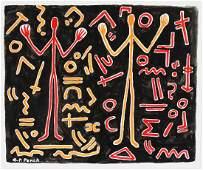 A.R. Penck (1939-2017) Gouache