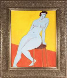Sally Michel (1902-2003) Oil Painting, 1982