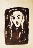 Edvard Munch (1863-1944) Ink Drawing