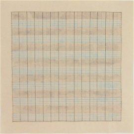 Agnes Martin (1912-2004) Watercolor