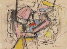 Willem De Kooning (1904-1997) Pastel & Charcoal