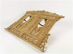 Chinese Carved Bamboo Book Stand