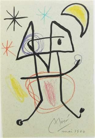 Joan Miro (1893-1983) Ink & Pencil Drawing