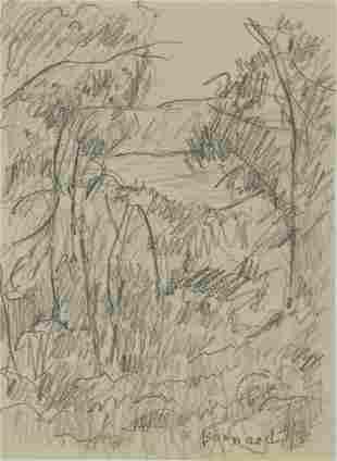 Pierre Bonnard (1867-1947) Pencil Drawing