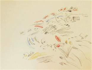 Cy Twombly (1928-2011) Colored Pencil & Graphite
