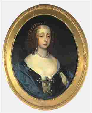 17th Century Oil Portrait Of A Young Woman