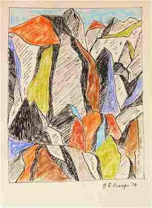 Hernando Ocampo (1911-1978) Ink & Pastel