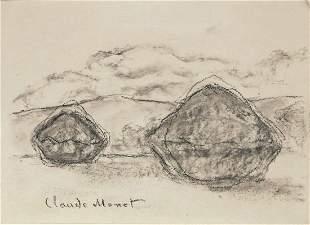 Claude Monet (1840-1926) Charcoal Sketches (2)