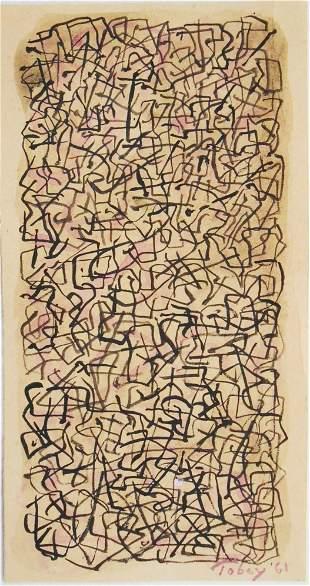 Mark Tobey (1890-1976) Watercolor & Gouache