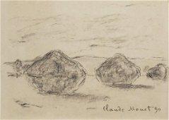 Claude Monet (1840-1926) Charcoal Sketch