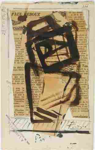 Pablo Picasso (1881-1973) Cubist Ink & Collage