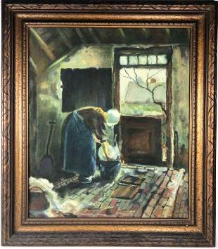 French Oil Painting, Circa 1920
