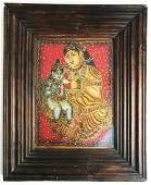 "19th Century ""Jeweled"" Indian Miniature"
