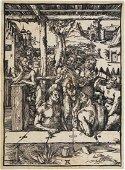 "Albrecht Durer (1471-1528) Woodcut, ""Das Mannerbad"""