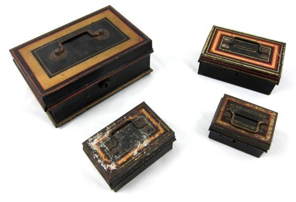 2: Group Of 4 English Antique Money Boxes