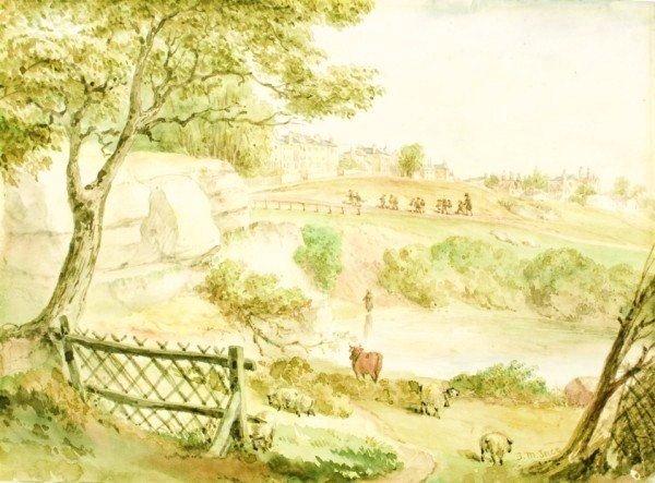 13: Joseph Murray Ince (1806-1859) Watercolor