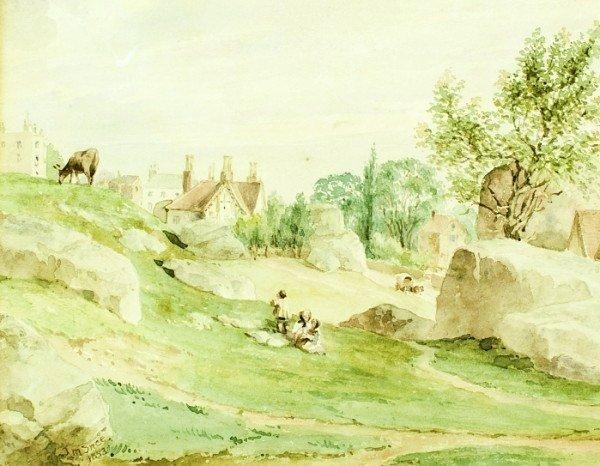 14: Joseph Murray Ince (1806-1859) Watercolor