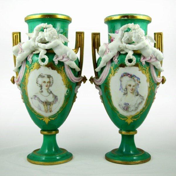 152: Pair Of French Porcelain Vases