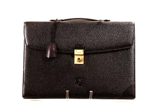 9: Embossed Leather  Attache Case By Loewe