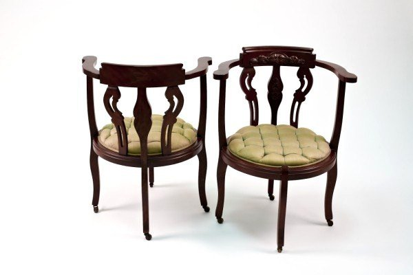 13: Victorian Parlor Armchairs