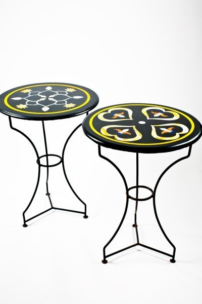 17: Pair Of Pietra Dura Side Tables