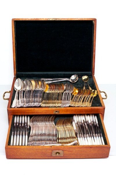 158: Antique French Sterling Silver Flatware Service