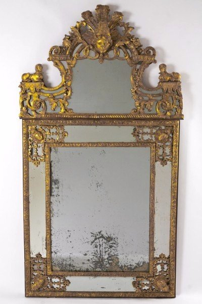 211A: Exceptional French Regence Gilt-Wood Mirror