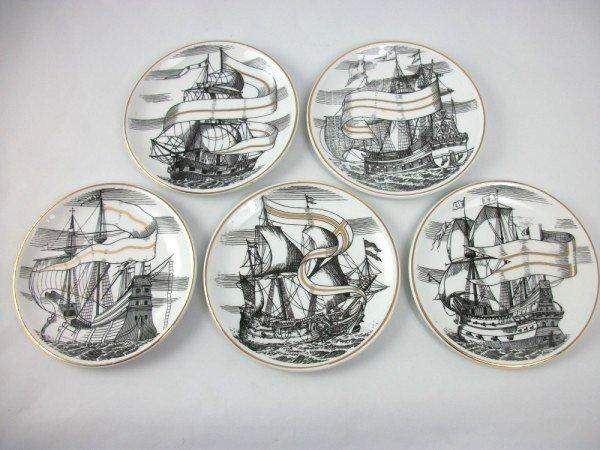 14: Set Of Fornasetti Transfer-Printed Coasters