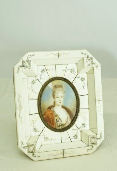 15: Miniature Painting On Ivory, Signed