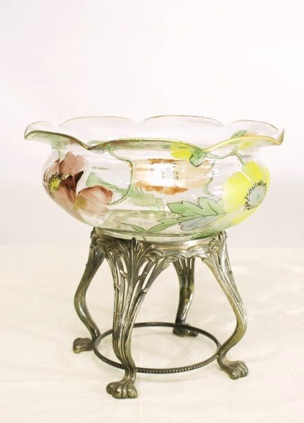 16: Pairpoint Art Nouveau Bowl On Stand