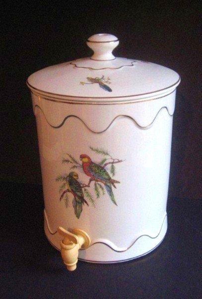 17: Antique Ceramic Water Cooler