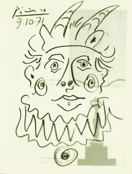 126: Picasso Exhibition Catalog With Original Drawing