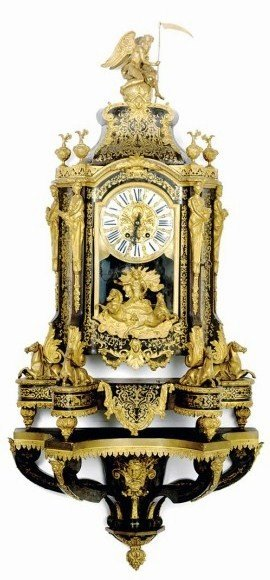 164: Exceptional French Boulle Bracket Clock, Ca. 1860