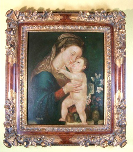 1: Oil Painting, Madonna & Child