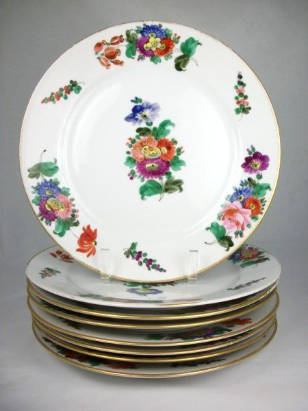 2: Group Of 8 Meissen-Style Porcelain Plates