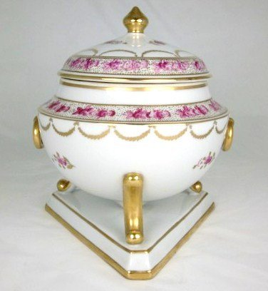 6: European Footed & Covered Porcelain Dish