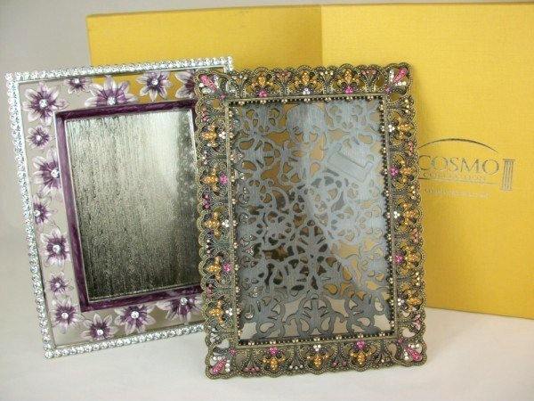 "10: Two Cosmo ""Jeweled"" Picture Frames"