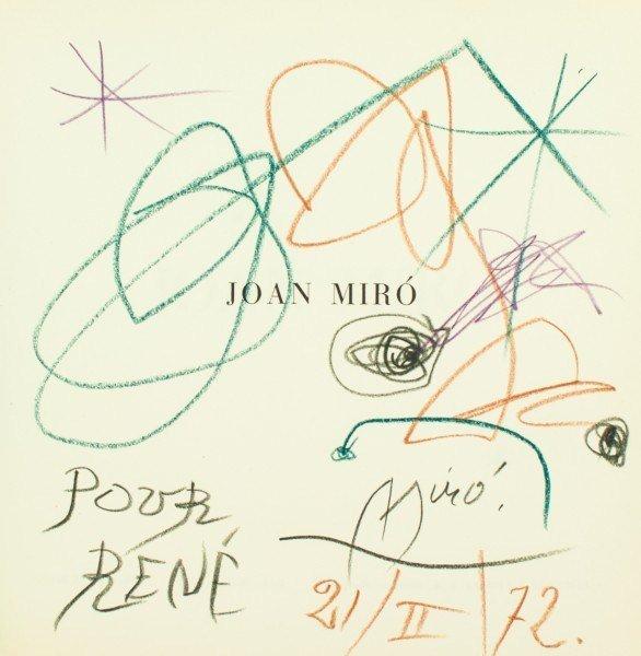 """11: Miro, Title Page Drawing in """"Joan Miro"""", 1972"""