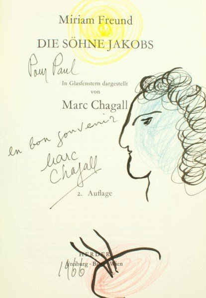 15: Marc Chagall, Title Page Drawing, 1966