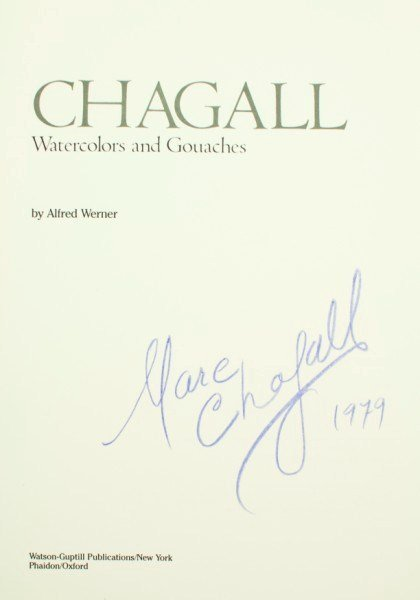 16: Marc Chagall,  Autographed Book