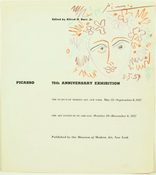 18: Picasso, Exhibition Catalog Drawing