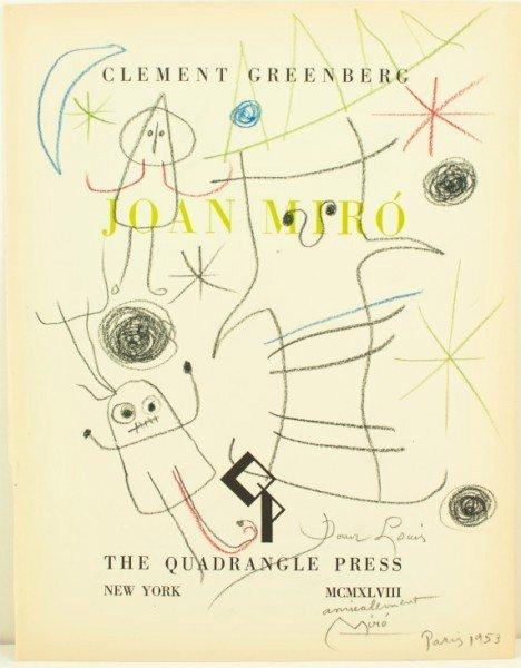 19: Joan Miro, Crayon & Pencil Title Page Drawing