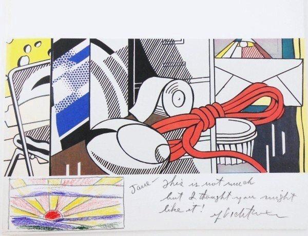 105A: Roy Lichtenstein Exhibition Catalog & Drawing