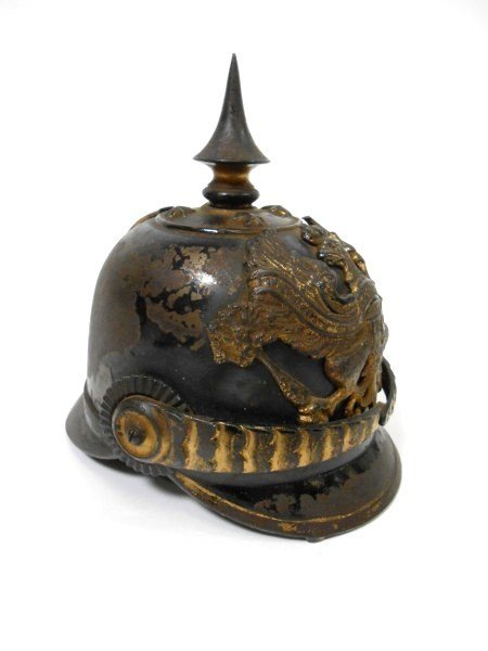 "7: Antique ""Prussian Helmet""  Inkwell"