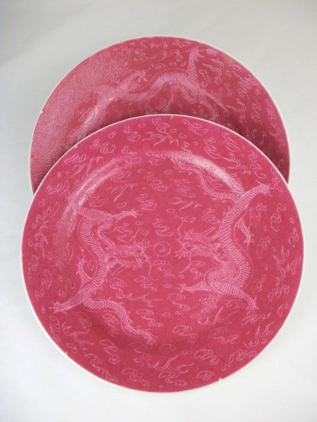10: Chinese Red Glaze Plates