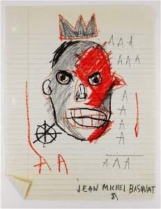 175: Jean-Michel Basquiat Pencil Sketch (1960-1988)