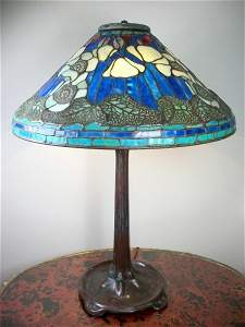 206: Antique Table Lamp, Possibly Tiffany