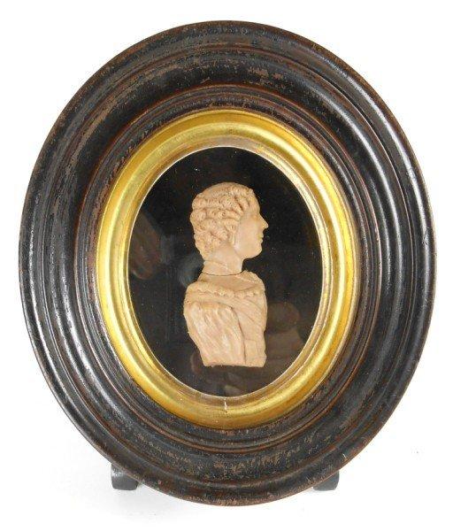 1: 19th Century European Wax Silhouette